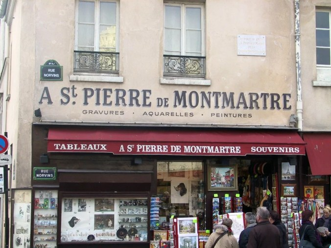 Shop front in Montmartre