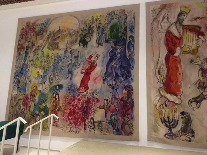 The left tapestry entitled: Entry into Jerusalem