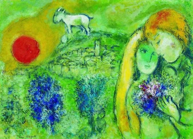 Marc Chagall - Les Amoureux de Venice