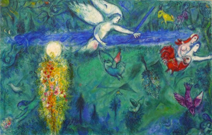 Marc Chagall Painting - Adam and Eve are expelled from paradise - Bible Series
