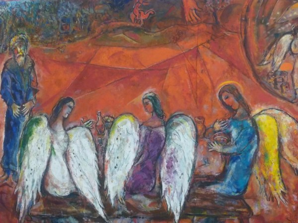 Painting of Angels - Marc Chagall