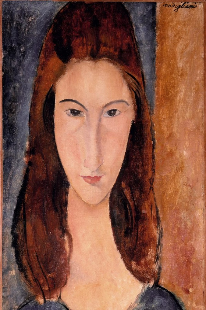 Amedeo Modigliani  Paintings. Portrait of Jeanne Hébuterne