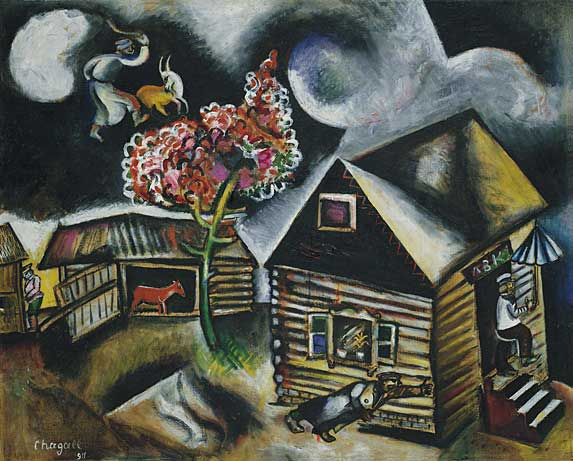 Chagall Painting - La Pluie - The Rain 1911