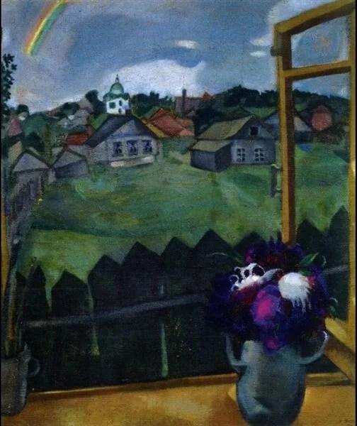 Chagall Painting -  Window Vitebsk 1908