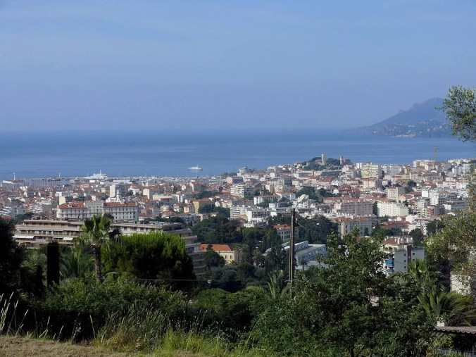 A view of Cannes from Le Cannet