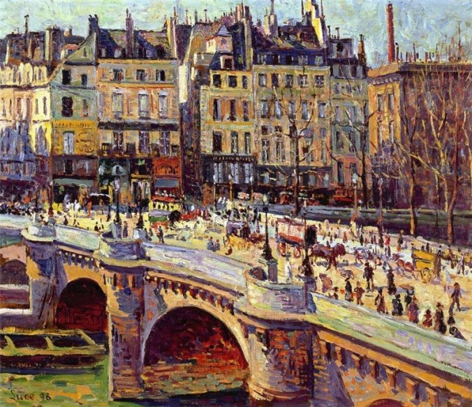 Maximilien Luce painting- The Quai Conti, Paris
