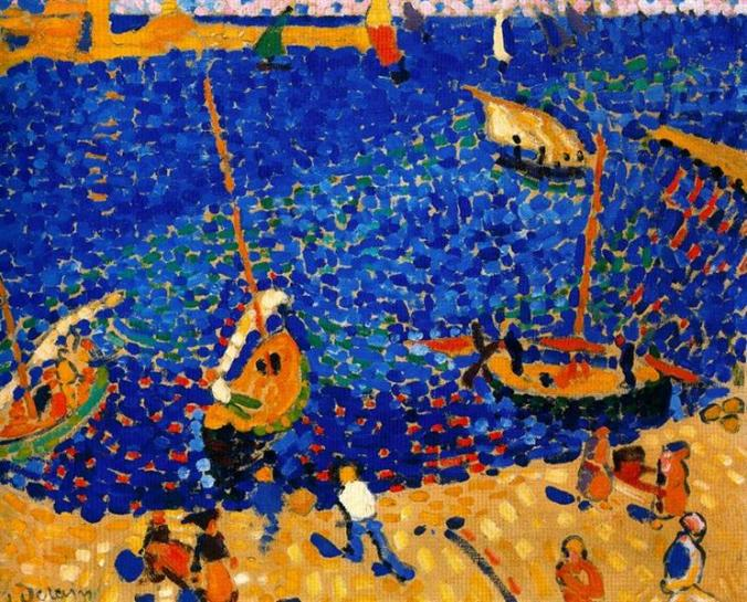 Andre Derain fauvisim painting of Boats in Collioure