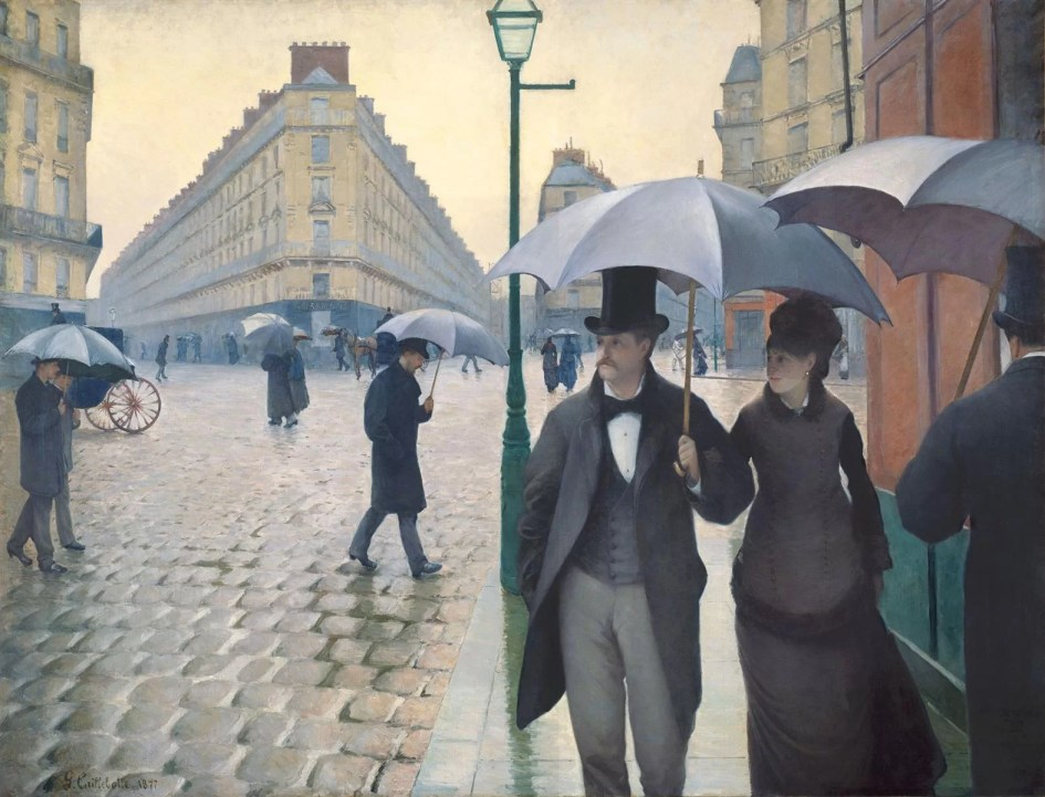 Rainy Day in Paris - Gustave Caillebotte Painting