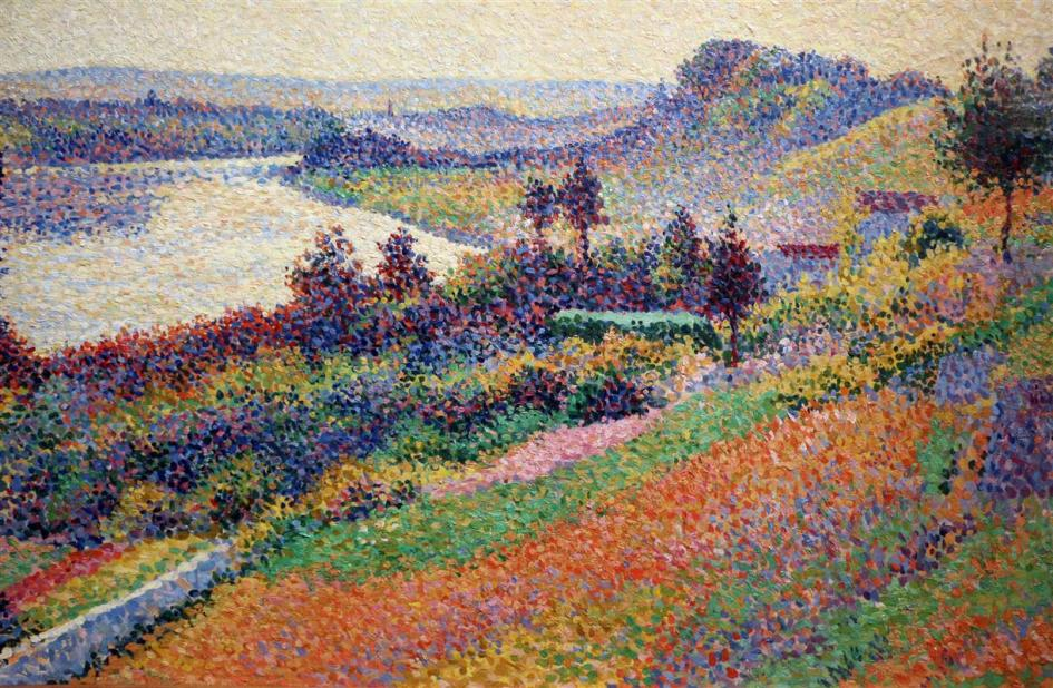 Maximilien Luce Painting in Neo-Impressionism style - the Seine River