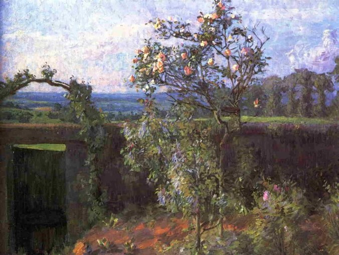 Landscape near Yerres - Caillebotte Painting