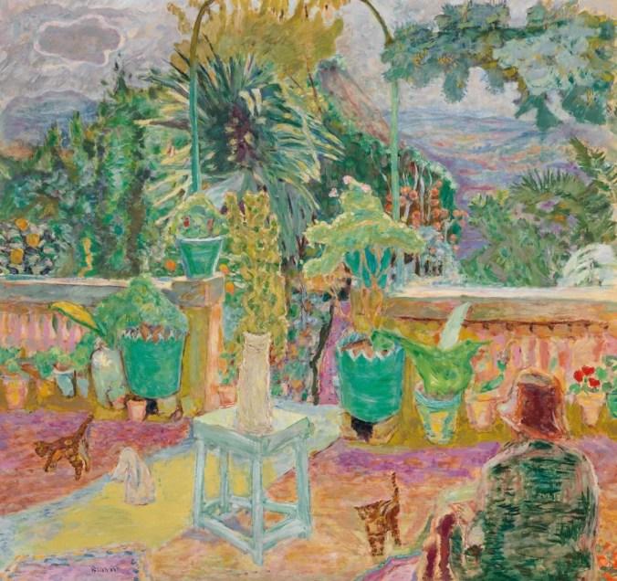 Pierre Bonnard Art - Terrasse ou une terrasse à Grasse (1912)