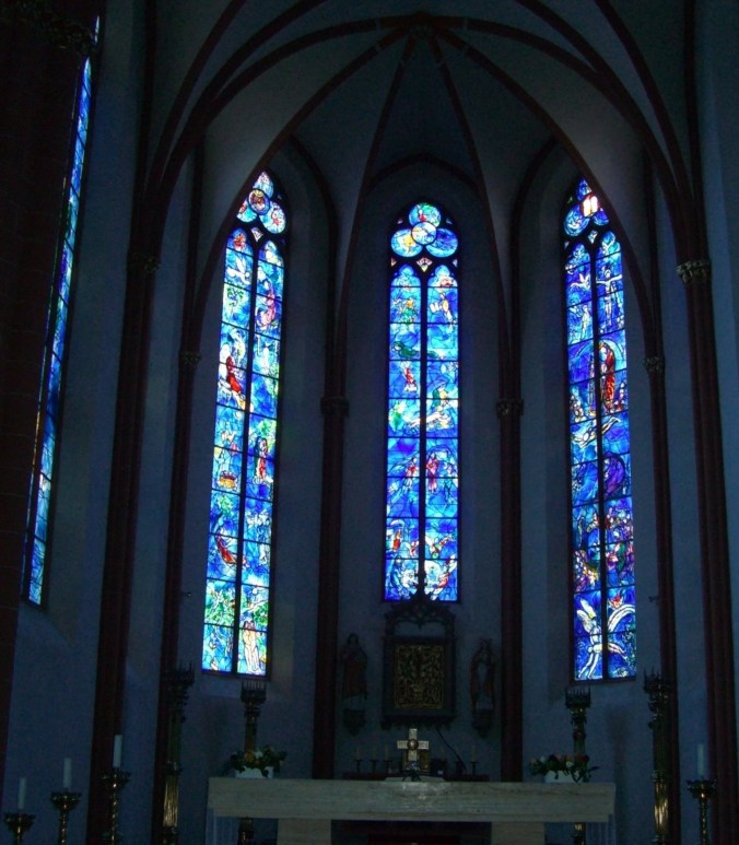Marc Chagall Stained-Glass Windows in St. Stephan Church