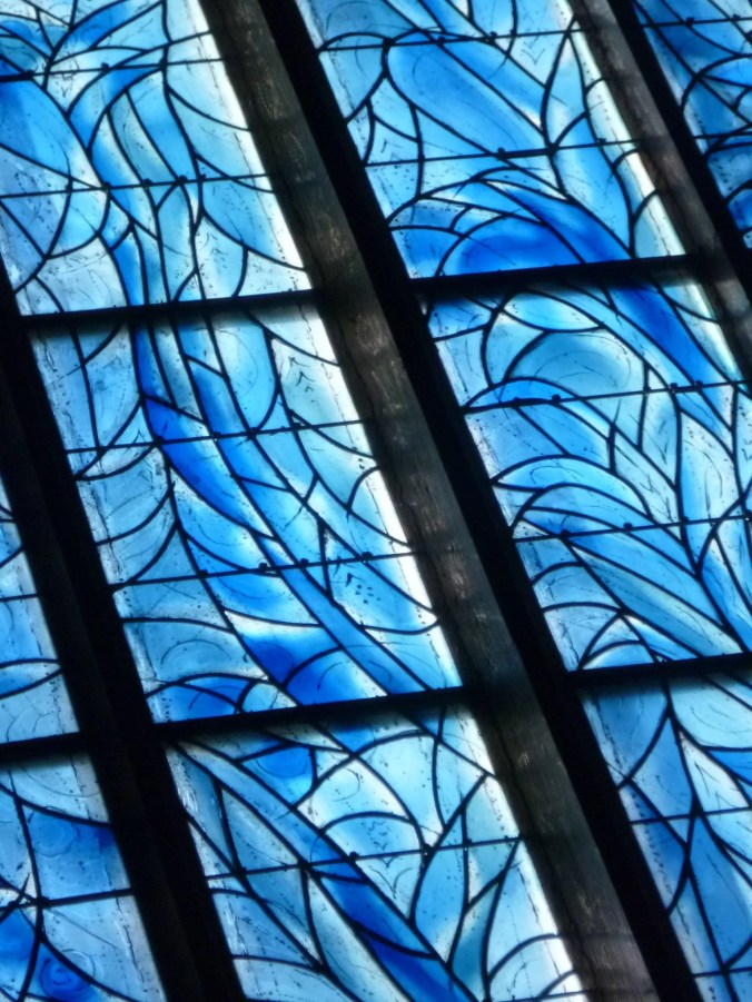 The windows completed by glasswork master Charles Marq