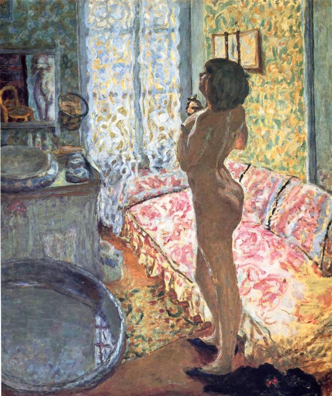 Bonnard Painting - Nude woman - Intimism