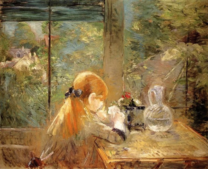 Berthe Morisot Painting - Red Hair Girl