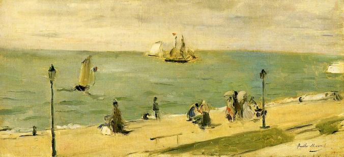 At the Beach - Berthe Morisot Painting