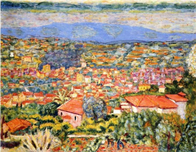 Pierre Bonnard Painting of Le Cannet - seaside villages