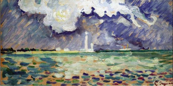 Paul Signac Painting of Barfleur Lighthouse
