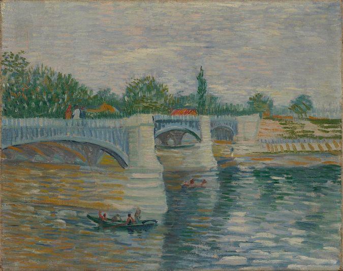Ile de la Grande Jatte  /  Vincent Van Gogh landscapes