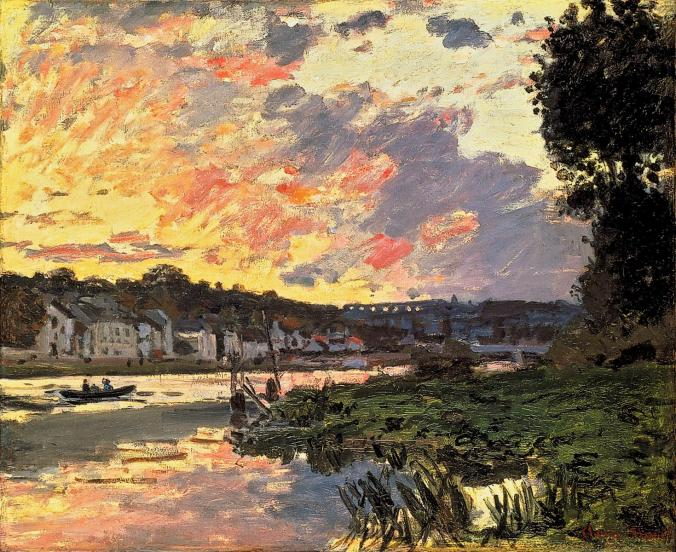 Claude Monet - French Landscapes- Seine River in Bougival