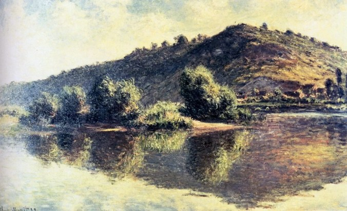 The Seine River-Villez near Giverny - Claude Monet Painting 1883