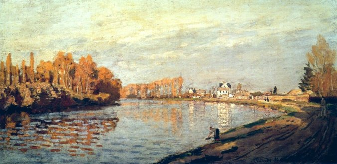 Claude Monet Famous Paintings - The Seine River at Bougival