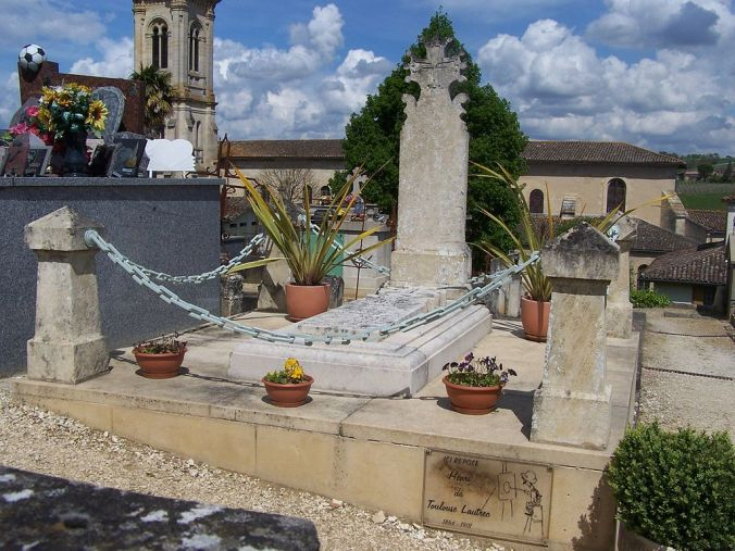 Toulouse-Lautrec's grave in Verdelais