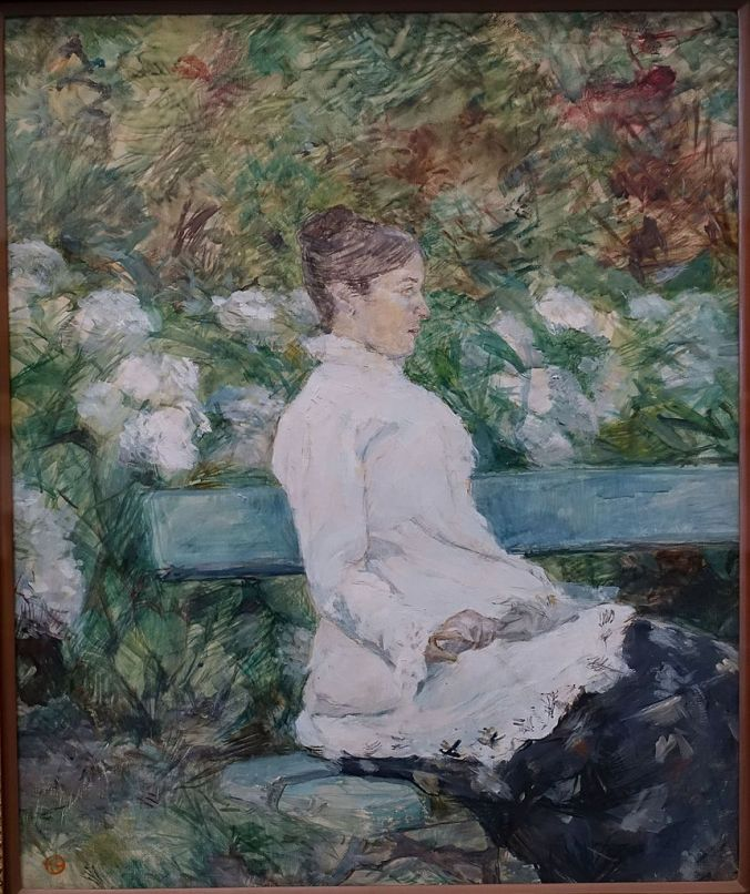 Painting of Countess Adele de Toulouse Lautrec in the Garden of Malrome