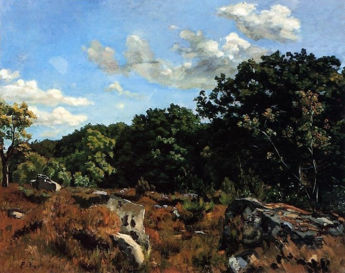 Frederic Bazille  painting -  Fontainebleau