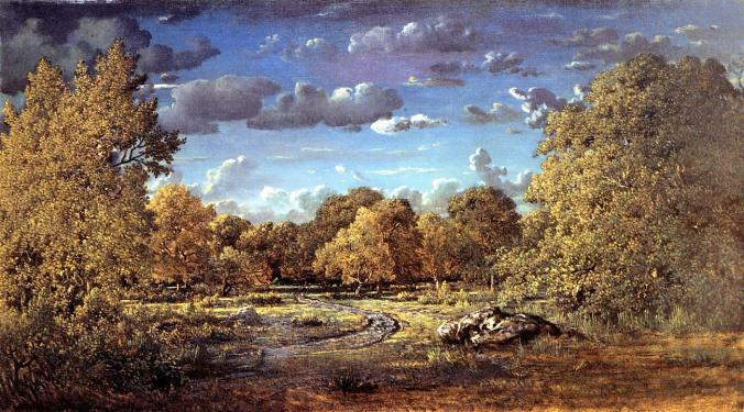 Theodore Rousseau  from the Barbizon School -  Fontainebleau History