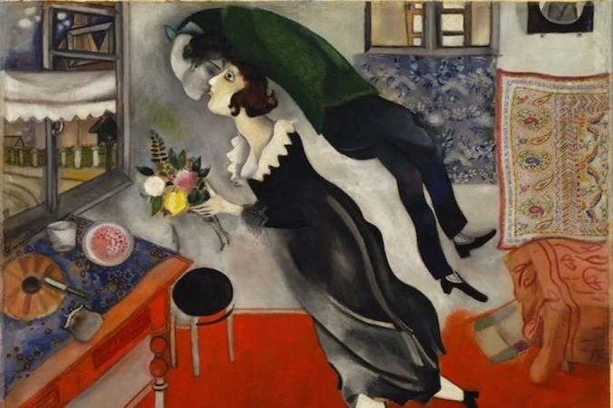 Painting of Chagall's wife Bella