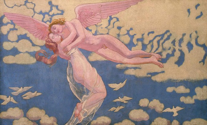 One of the Panels from the Series The Story of Psyche - Symbolism Art Movement