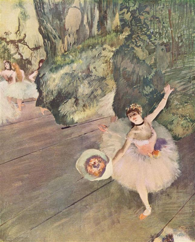 Edgar Degas Painting of a ballerina on stage