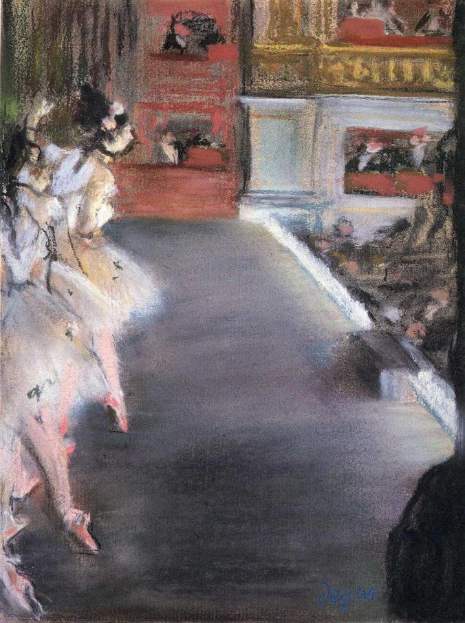 Ballerinas at the Old Opera House, Paris - Edgar Degas Pastels