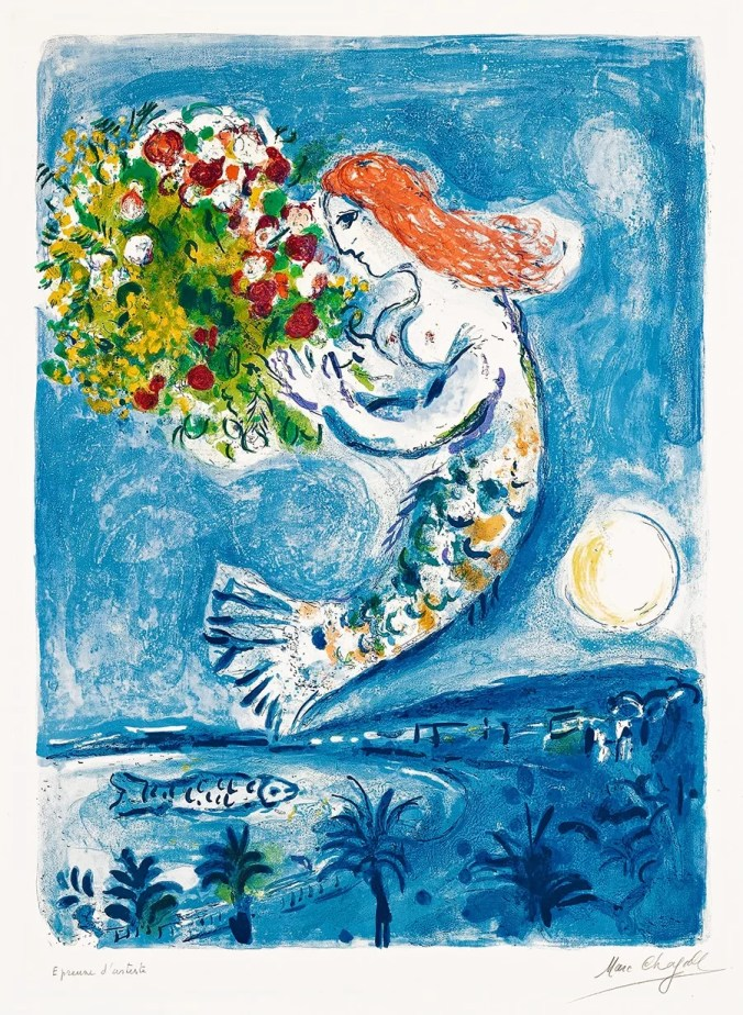 Marc Chagall Painting - The Bay of Angels, Nice