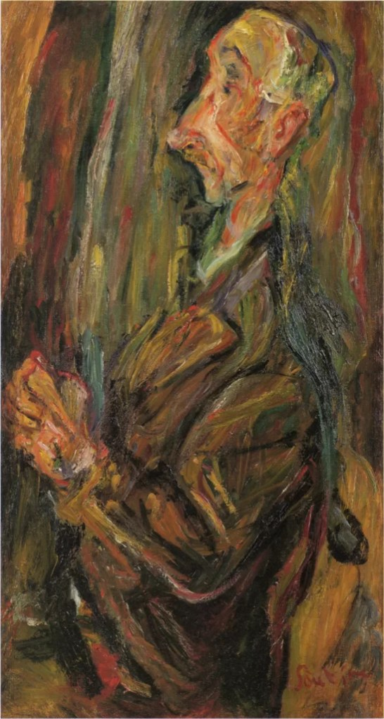Portrait of a man - Chaim Soutine art