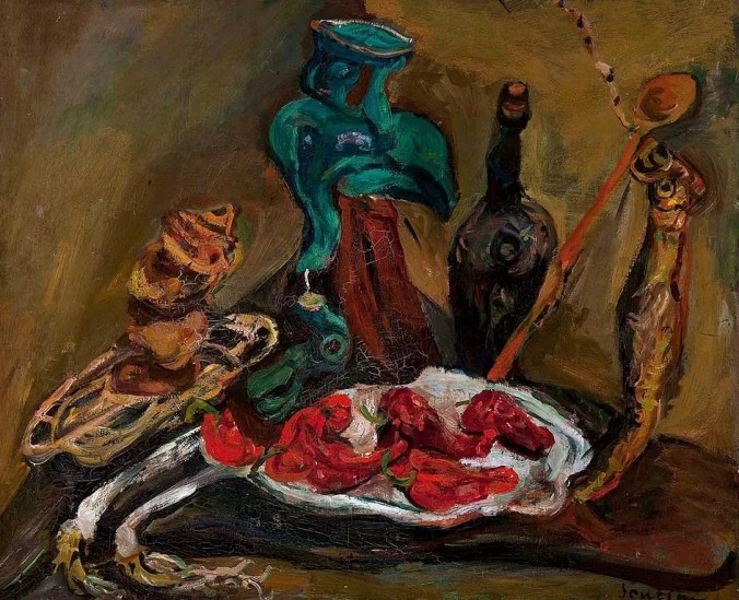 Fish, Peppers, Onions - Chaim Soutine Painting