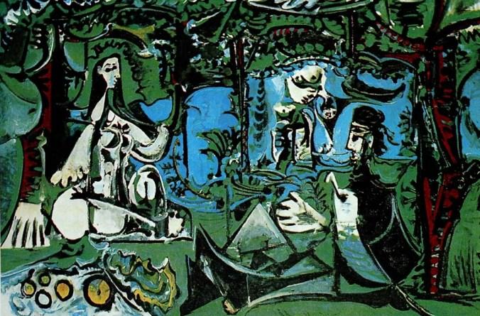Le Déjeuner sur L'Herbe - Pablo Picasso Painting
