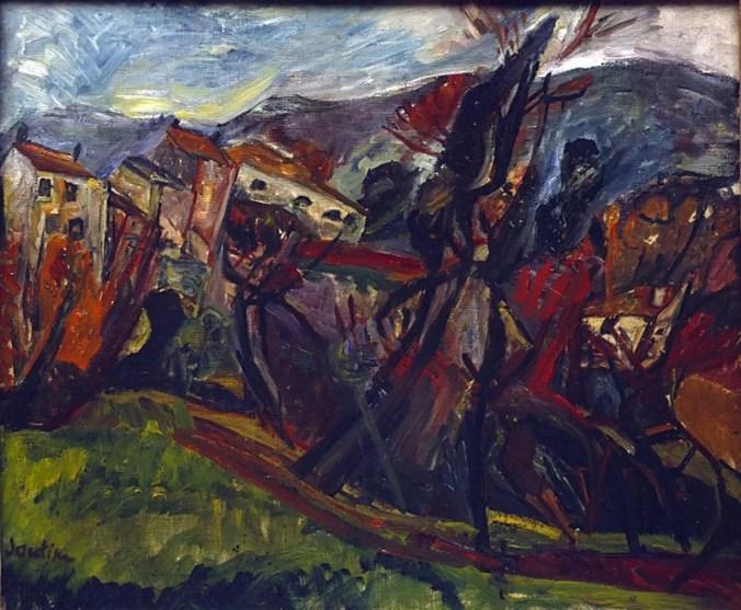 Ceret Landscape - Chaim Soutine painting