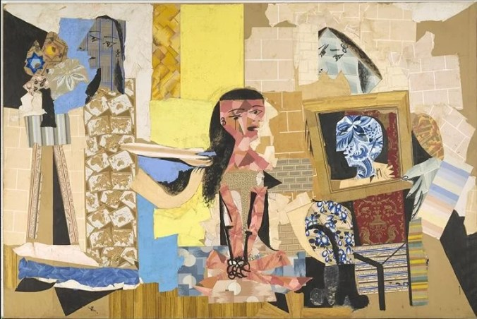 Picasso Paper Collage entitled:  Women at Their Toilette