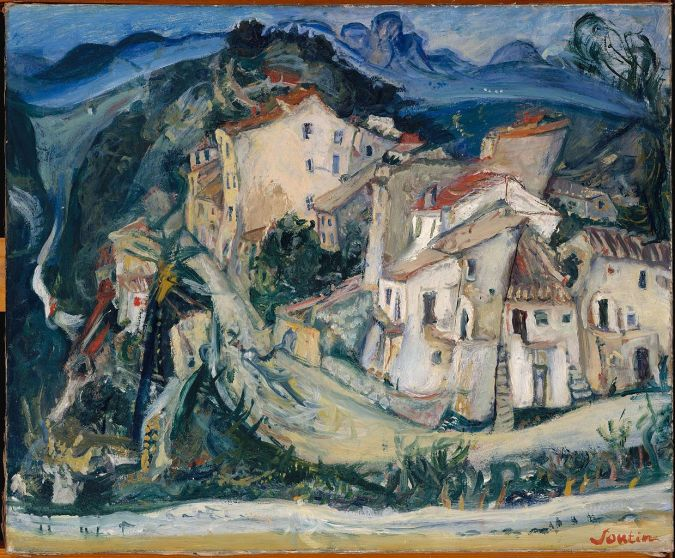 View of Cagnes - Chaim Soutine painting [Public Domain]