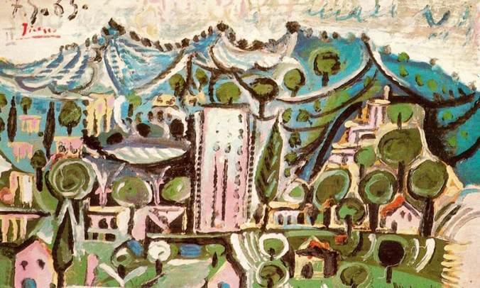 Mougins Landscape- Pablo Picasso Painting