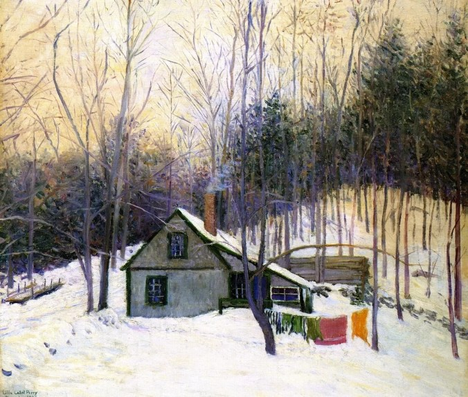 A Snowy Monday - Lilla Cabot Perry Landscape