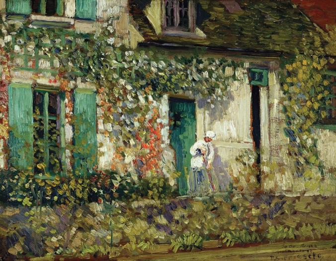 Frederick Carl Frieseke - One of the 19th century American artists who adopted French Impressionism