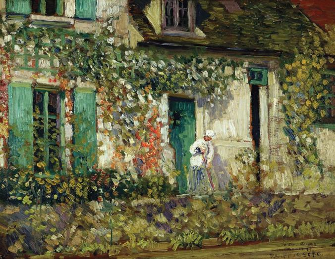 Giverny House- Painted by Frederick Carl Frieseke