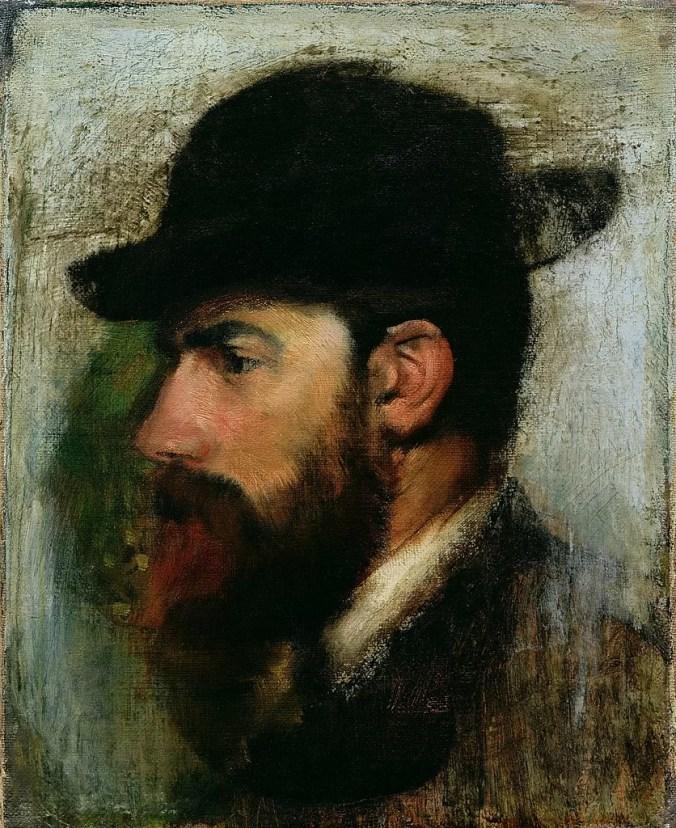 Edgar Degas Painting of Rouart