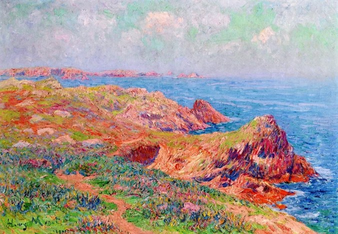 Brittany Coast - Henri Moret paintings