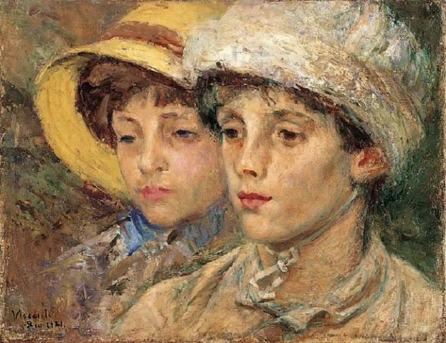Eliseu Visconti Painting - Two boys