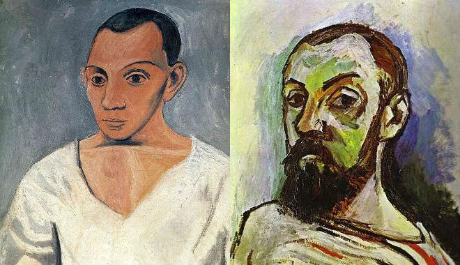 Picasso Self Portrait (left) Matisse Self Portrait (Right)