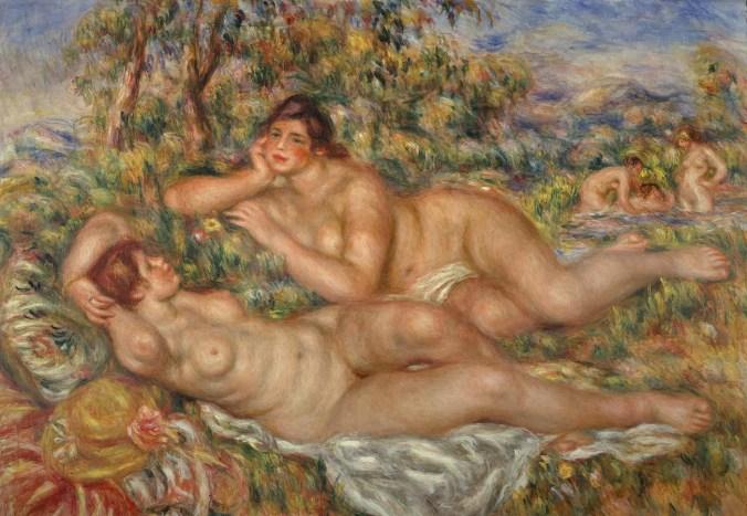 "Pierre-Auguste Renoir painting entitled ""The Bathers"""